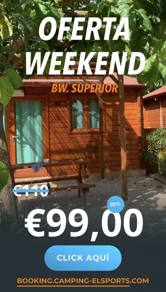 oferta weekend superior 10 Camping els Ports